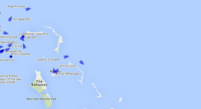 Bahamas Cruise Ship Tracker